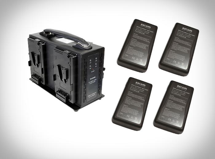 Axcom V-Mount 4er Set 115WH mieten bei Bilderkult -Media